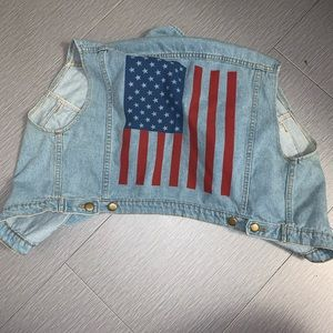 ‼️SALE‼️ American Apparel denim flag vest